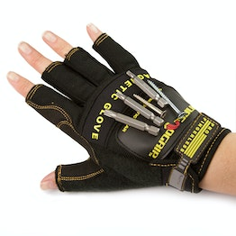 Magnetic gloves M for nails, screws, bits, etc., pair of gloves, size M