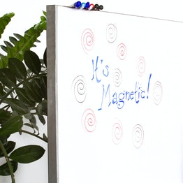 Whiteboard sheet magnetic magnetic backside, 1 x 5 m roll, not a magnetic base for magnets!
