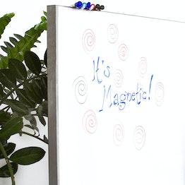 Whiteboardfolie magnetisch achterzijde magnetisch, rol van 1 x 5 m, geen hechtondergrond voor magneten