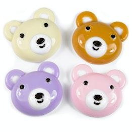 Calamite da frigo 'Honey' a forma di orsetto, set da 4