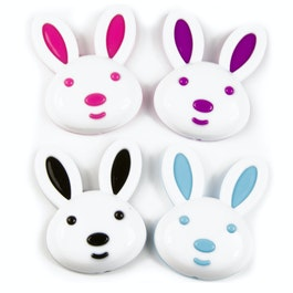 Bunny fridge magnets in bunny shape, set of 4