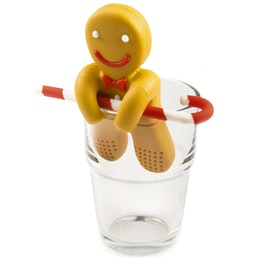 Tea infuser Gingerbread Man silicone tea infuser, non-magnetic!