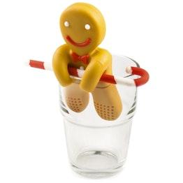 Infusor de té «Hombre de jengibre» infusor de té de silicona, ¡no es magnético!
