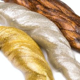 Intelligente Knete Metallic metallisch glänzend, verschiedene Farben, nicht magnetisch!