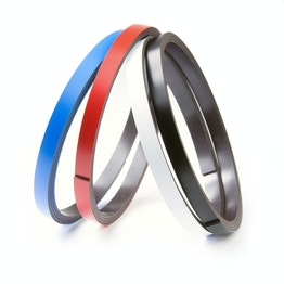 Coloured magnetic tape 7 mm for labelling and cutting, rolls of 1 m
