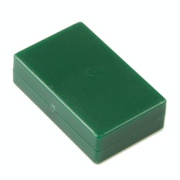 M-BLOCK-01/green Block magnets with plastic cover, holds approx. 5,5 kg, water-proof, 5 per set, green