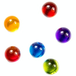 Magnetic marbles colourful deco magnets made of acrylic glass, set of 6