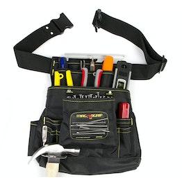 Tool belt magnetic large with 10 pockets & belt