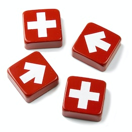 Swiss & Arrow fridge magnets with crosses and arrows, set of 4