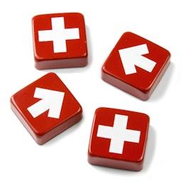 Swiss & Arrow aimants décoratifs avec des croix et des flèches, lot de 4