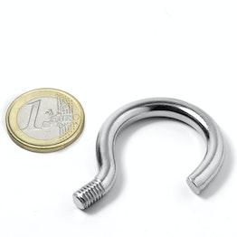 STH-26 screw hook 26 mm inner diameter, steel, nickel-coated, thread M6