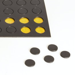 Takkis round 10 mm self-adhesive magnetic dots, 60 pieces per sheet