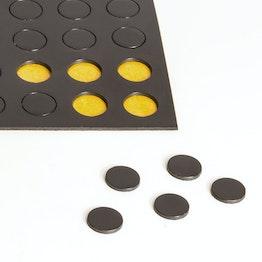 Takkis redondas 10 mm plaquitas magnéticas adhesivas, 60 plaquitas por hoja