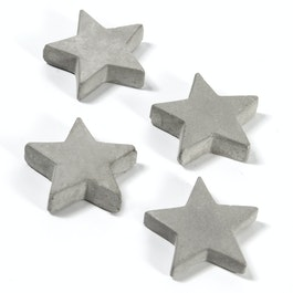 Concrete magnets stars, set of 4