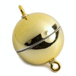 Cierre magnético oro brillante para collares / pulseras, Ø 8 mm