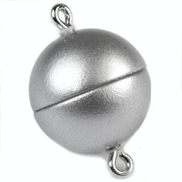 Cierre magnético plata mate para collares / pulseras, Ø 8 mm
