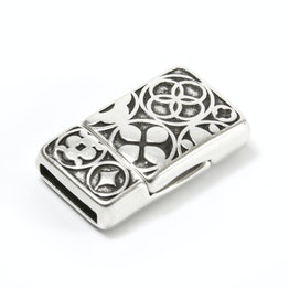 Jewellery clasp magnetic Celtic for bracelets, rectangular