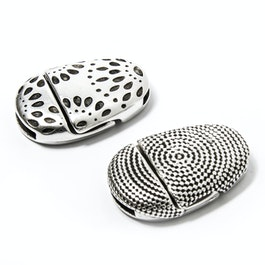 Jewellery clasp magnetic with pattern for bracelets, extra-strong hold