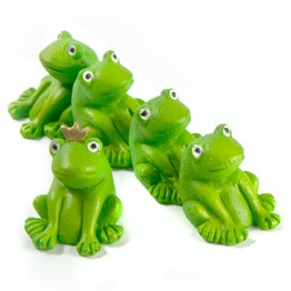 Frogs fridge magnet in the shape of frogs, set of 5