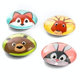 Funimals button magnets with funny animal faces, set of 4