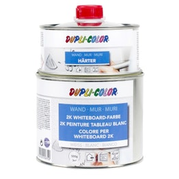 Whiteboard paint S 500 ml for an area of 3 m², white or transparent, not magnetic!