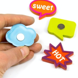 Expression Magnets Fancy caoutchoutés, lot de 4