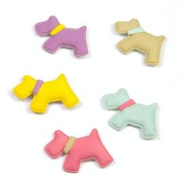 Cani magnetici in plastica, vellutati, set da 5