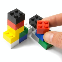 Building block magnets 'Classic' with press-fitted magnets, assorted, set of 14