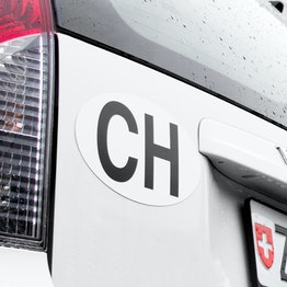 CH decal for motor vehicles & trailer, magnetic