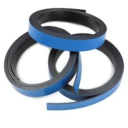 Farbiges Magnetband 10 mm zum selber Beschriften und Zuschneiden, Rollen à 1 m, blau