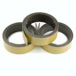 Nastro magnetico colorato 20 mm da scrivere e tagliare, rotoli da 1 m, color oro