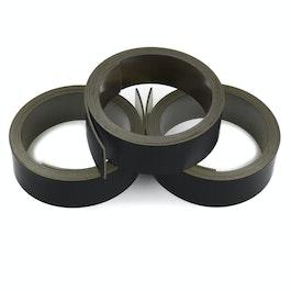 Nastro magnetico colorato 20 mm da scrivere e tagliare, rotoli da 1 m, nero