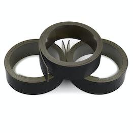 Bande magnétique couleur 20 mm pour y écrire et pour découper, rouleaux d'1 m, noir