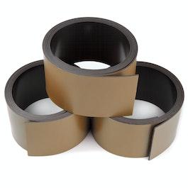 Cinta magnética de colores 30 mm para rotular y cortar, rollos de 1 m, marrón