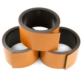 Cinta magnética de colores 30 mm para rotular y cortar, rollos de 1 m, naranja