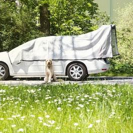 Rete ombreggiante Alunet 80% M protezione dal sole per l'auto e il giardino, 3 x 5 m