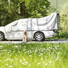 Alunet shade cloth 80% M sun protection for car and garden, 3 x 5 m