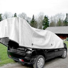 Rete ombreggiante Alunet 80% S protezione dal sole per l'auto e il giardino, 3 x 4 m
