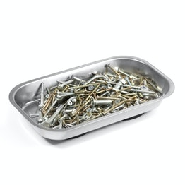 Magnetic bowl rectangular for nails, screws, bits, etc., 237 x 136 x 28 mm