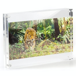 Picture frame 21 x 15 cm with magnetic catch, made of transparent acrylic glass, for portrait or landscape format