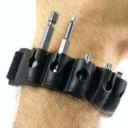 Bitpass magnetischer Bit-Halter, für Handgelenk oder Akkuschrauber, inklusive 6 Bits