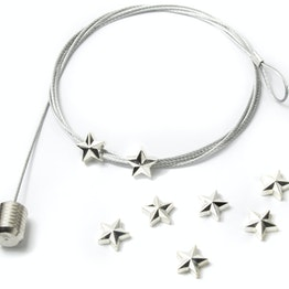Photo rope 'Star' 1.5 m with loop and steel weight, incl. 8 star magnets