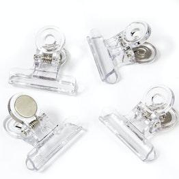 Pinces magnétiques 'Graffa' transparentes en matière synthétique, lot de 4