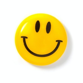 Smiley 'Boy' plastificato, giallo