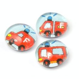 Rettungsfahrzeuge handgemachte Kühlschrankmagnete, 3er-Set, Feuerwehr