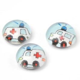 Rettungsfahrzeuge handgemachte Kühlschrankmagnete, 3er-Set, Ambulanz