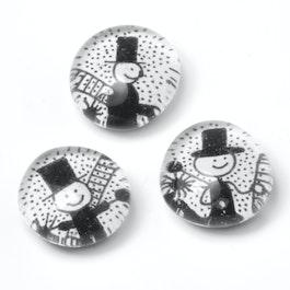 Talisman handgemaakte koelkastmagneten, set van 3, schoorsteenveger