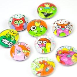 Cult-dieren handgemaakte koelkastmagneten, set van 3