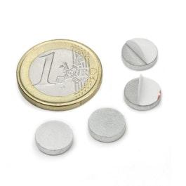 PAS-10 Metalen schijfje zelfklevend Ø 10 mm, als tegenstuk voor magneten, geen magneet!