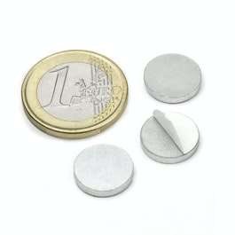 PAS-13 Disco metallico autoadesivo Ø 13 mm, come controparte per i magneti, non è un magnete!
